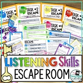ELA Test Prep Listening Skills Escape Room Activity