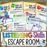 ELA Test Prep Listening Skills Escape Room Activity
