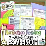 ELA Test Prep Nonfiction Reading Escape Room Activity