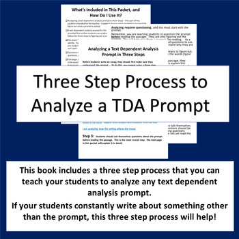 """Text Dependent Analysis(TDA) Practice Packet Featuring the Poem """"Father William"""""""