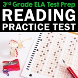 ELA Test Prep Reading Practice Test Fiction, Nonfiction, Grammar 3rd Grade FSA