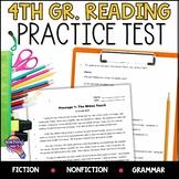 ELA Test Prep Reading Practice Test Fiction, Nonfiction, Grammar 4th Grade FSA