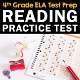 ELA Test Prep Reading Practice Test Fiction, Nonfiction, Grammar 4th Grade FSA