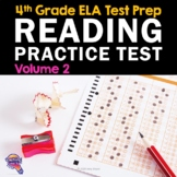 ELA Test Prep Reading Practice Test VOLUME 2 4th Grade FSA