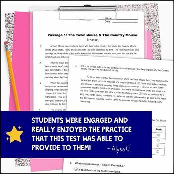 5th Grade ELA Test Prep Reading Practice Test VOLUME 2: Fiction, Nonfiction FSA
