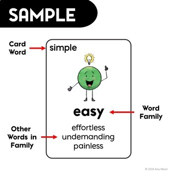 ELA Test Prep Shades of Meaning Review Card Game 3rd 4th Grade FSA AIR