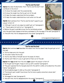 ELA Test Prep Task Cards Literary Analysis Grade 3