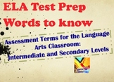 ELA Test Prep Terms: Definitions & Examples ZIP File of PPT and PDF