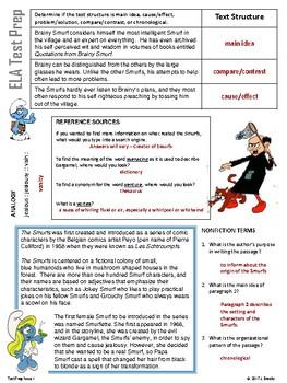 ELA Test Prep:  The Smurfs Mixed English Review