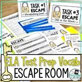 ELA Test Prep Vocabulary Escape Room Activity