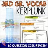 ELA Test Prep Vocabulary Kerplunk Review Game 3rd Grade VOLUME 1 FSA AIR