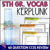 ELA Test Prep Vocabulary Kerplunk Review Game 5th Grade FSA AIR