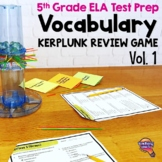 ELA Test Prep Vocabulary Kerplunk Review Game 5th Grade FSA AIR