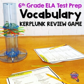 ELA Test Prep Vocabulary Kerplunk Review Game 6th Grade FSA AIR