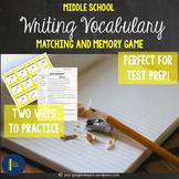 ELA Test Prep: Writing Matching and Memory Game