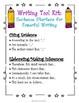 ELA Common Core Test Prep Writing Tool Kit: Sentence Starters