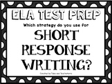 ELA Test Prep for Short Response Writing Questions