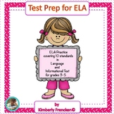 ELA Test Preparation Daily Sheets & Nonfiction Passage