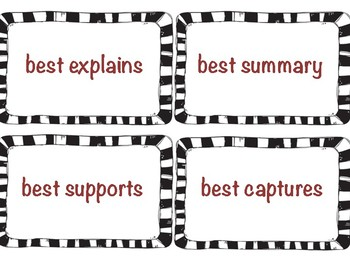 ELA Testing Buzz Word Cards {Test Prep}