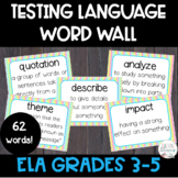 ELA Test Prep Language Word Wall