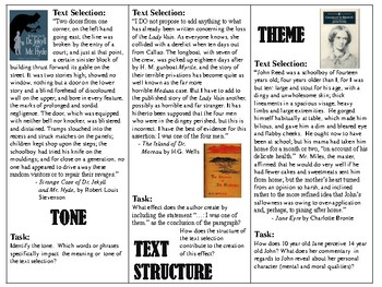 ELA Text-Based Task Cards / Bell Ringers / State Test Practice Questions