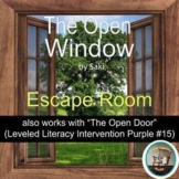ELA - The Open Window -  Escape Room - Scary Story for Halloween