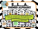 ELA Themed Cursive Alphabet