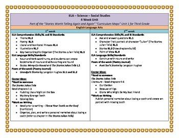 ELA Third Grade 4-week Unit with Science and Social Studies activities!