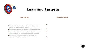ELA Unit #1 Lesson #2 Understanding Culture