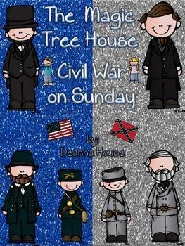 ELA Unit for The Magic Tree House Civil War on Sunday