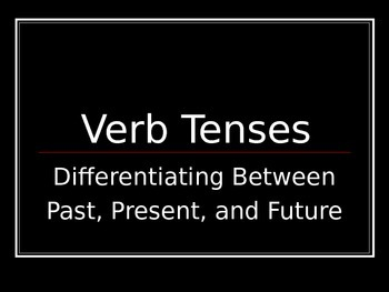ELA VERBS Past Present Future TENSES PowerPoint PPT
