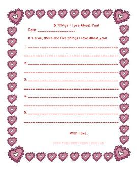 ELA Valentines Day Activities