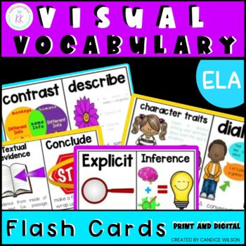 FSA ELA Visual Vocabulary Cards with Definitions