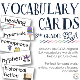 ELA Vocabulary Cards {Aligned to 3rd Grade CCSS}