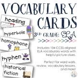ELA Vocabulary Cards {Aligned to 3rd Grade CCSS}