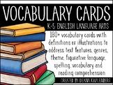 ELA Vocabulary Cards {K-5}