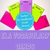 Reading Vocabulary Cards- Perfect for HeadBandz