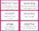ELA Vocabulary Flash Cards 3-5