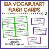 ELA Vocabulary Flash Cards K-2