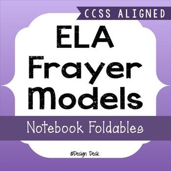 ELA Vocabulary Frayer Model Interactive Notebook Foldables ~ CCSS