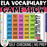 ELA Vocabulary Game Show PowerPoint Game {ELA Test Prep Review Game}