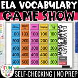 ELA Vocabulary Game Show Game | Test Prep Reading Review Game | Digital
