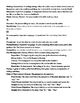 ELA Vocabulary Glossary
