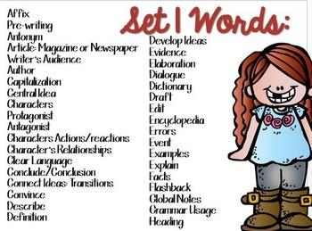 ELA Vocabulary Grades 2-4 CCSS Aligned: Set 1