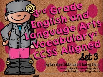 ELA Vocabulary Grades 2-4 CCSS Aligned: Set 3