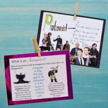 ELA Vocabulary Poster Project Bundle
