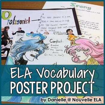 ELA Vocabulary Poster Project Bundle