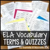 ELA Vocabulary Quiz Bundle