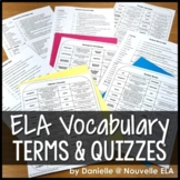 ELA Vocabulary Quiz Bundle