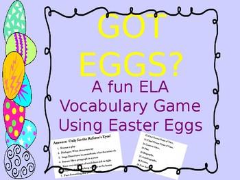 ELA Vocabulary Review Game